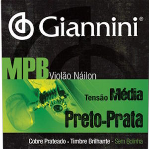 encordoamento giannini nylon preto